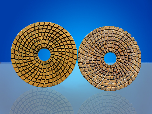 wet polishing pads with vacuum brazed grain